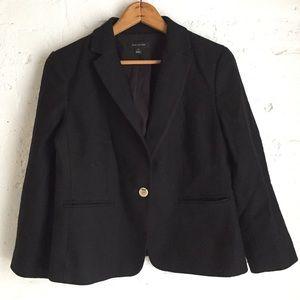 Ann Taylor black textured career blazer size 10